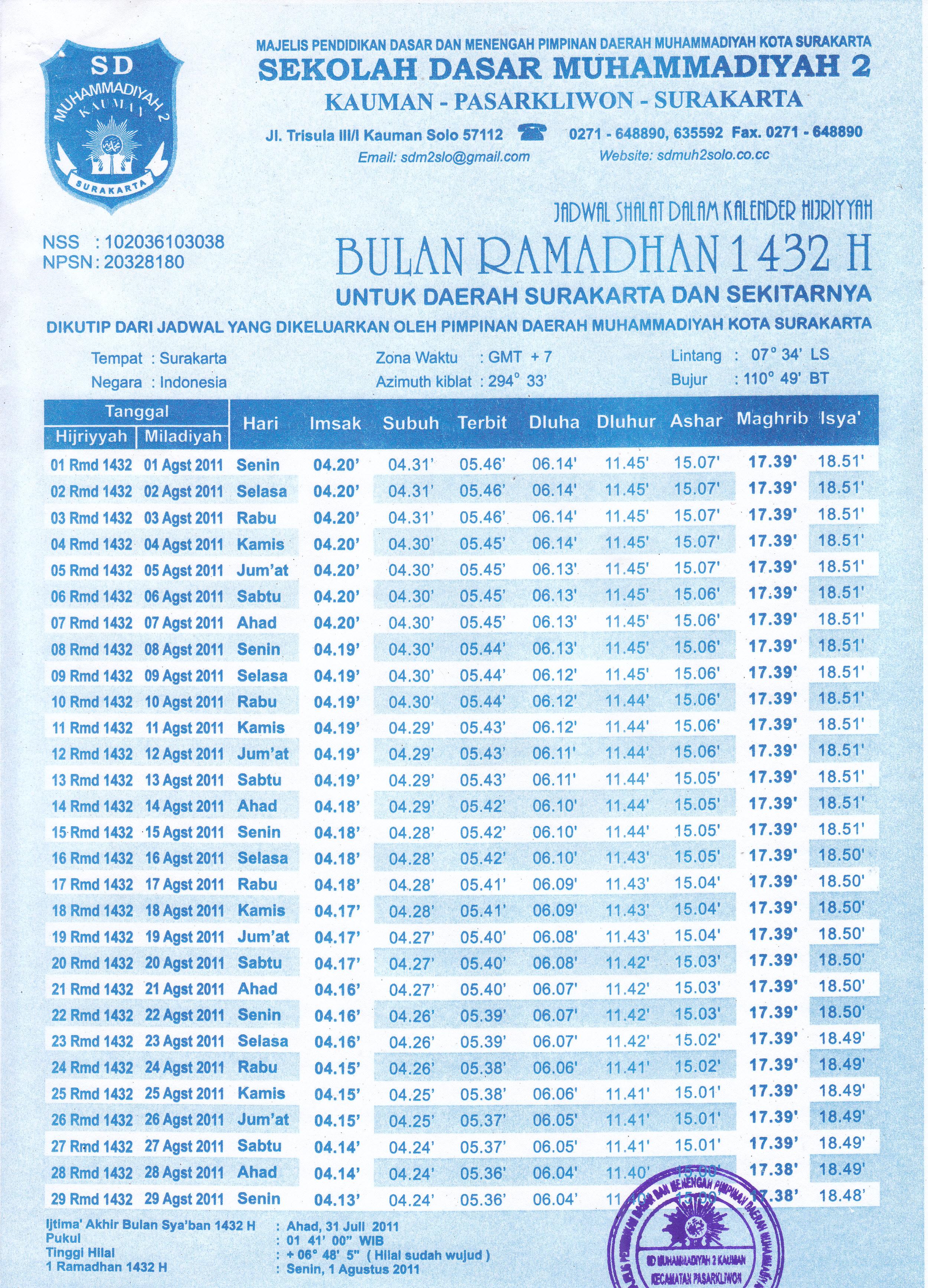 Disimpan dalam Berita , Jadwal Dikaitkatakan dengan jadwal imsakiyah .